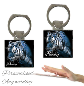 Personalised-Name-Holographic-Tiger-Finger-Holder-Ring-360-Grip-Mobile-Phone