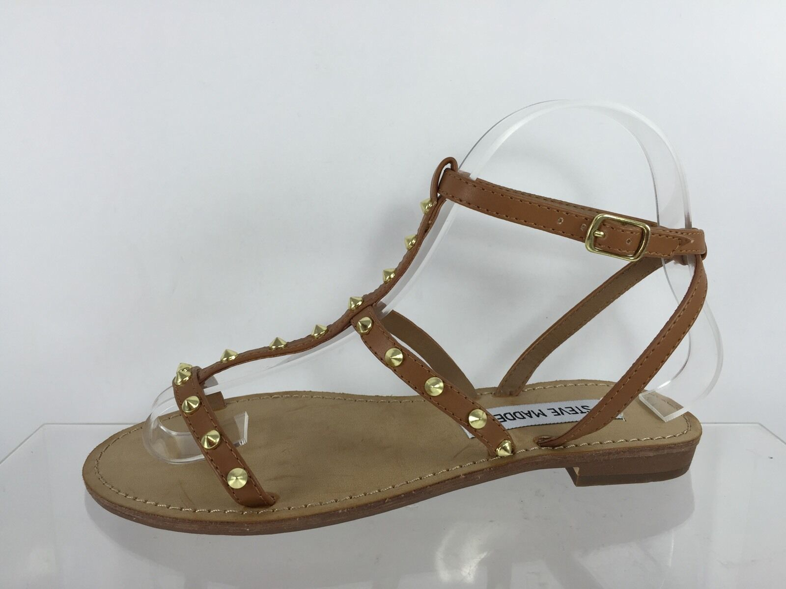 Steve Sandals Madden Womens Studded Brown Sandals Steve 6.5 941caa