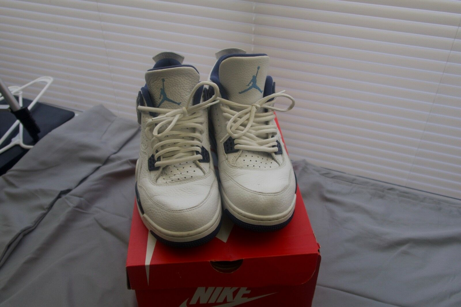 Jordan 4 Navy/White Columbia Price reduction  Athletic shoes Cheap and beautiful fashion
