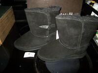 Brand Girls Black Bearpaw Abigail Boots, Size 2