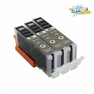 3PK-CLI-251XL-Grey-Color-Ink-For-Canon-Pixma-iP8720-MG6320-MG7120-MG7520-W-GRAY