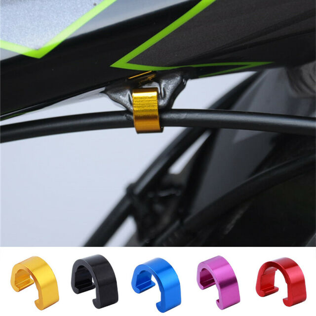10Pcs MTB Bicycle Bike S-Clips Rotating Brake Cable Guide Tidy Clamp Fixed W8K5