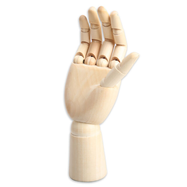 Wooden Hand Body Artist Model Jointed Articulated Wood Sculpture Mannequin Agile