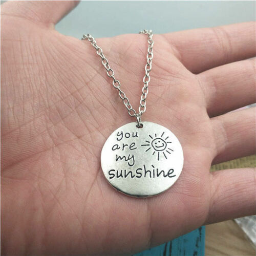 You are my sunshine silver Necklace pendants,creative jewelry birthday gifts