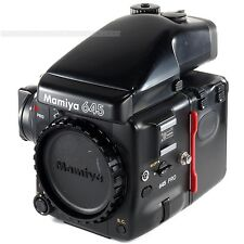 Used Mamiya 645 PRO Body with Film Back HA401 + AE Prism Finder FE401 + Crank