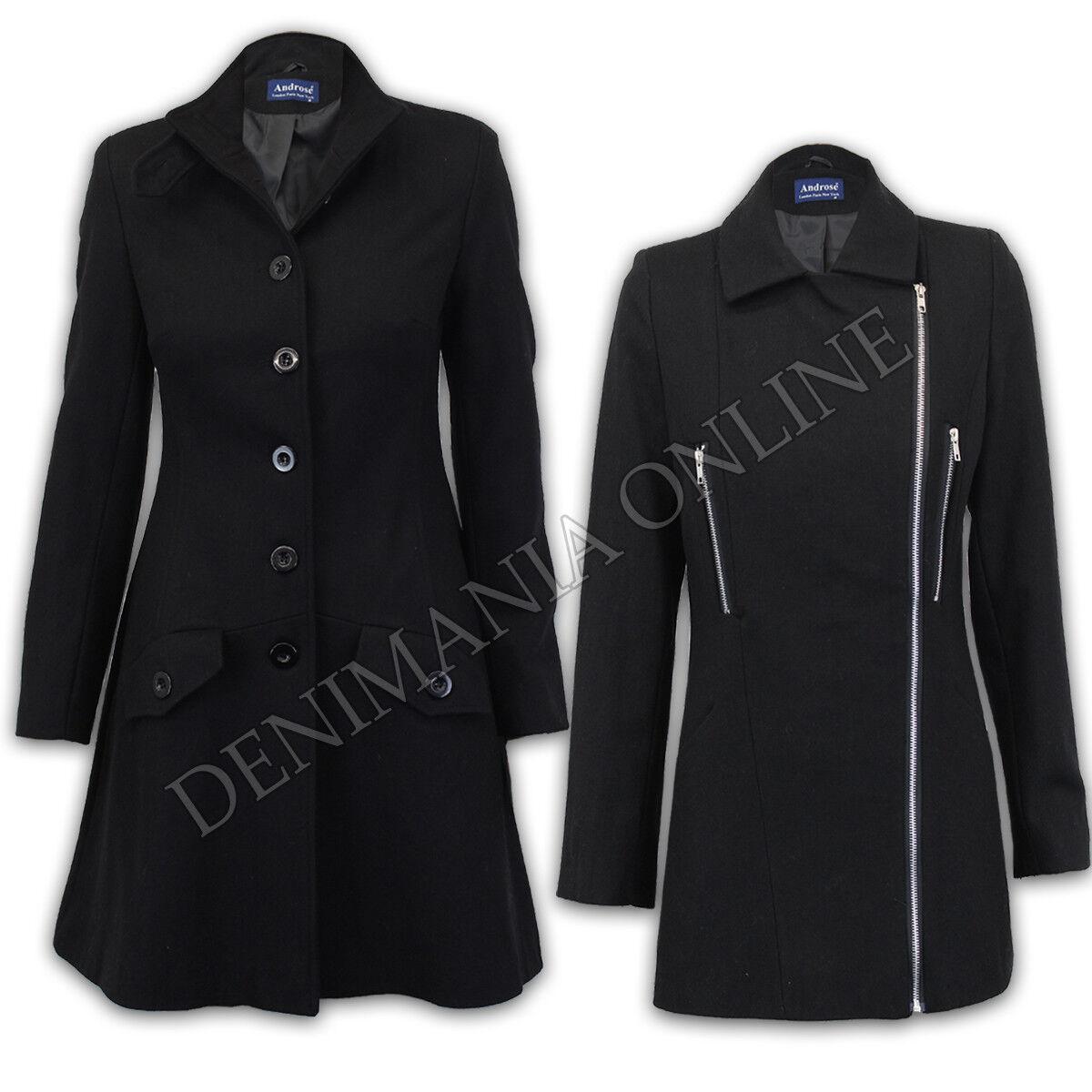 Damen Oberbekleidung Mode gefüttert Winter Wolle Mix Mantel Damen Graben lange Jacke