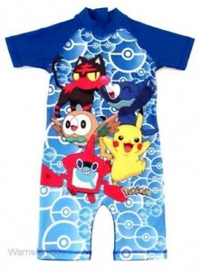 Boys Kids Pokemon Surf Suit Character Swim Suit Children Swimwear 18Month 5Yrs