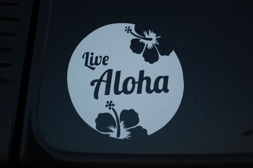 Hawaiian Islands Sticker Vinyl Decal LIVE ALOHA Car Window Home Wall Deco V294