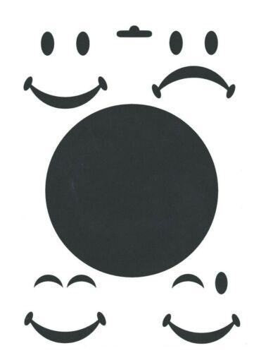 Schablone A4 Trend Totenköpfe Smile zum Auftragen von Farbe Heike Schäfer