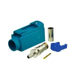 50pcs-Fakra-crimp-connector-Waterblue-5021-Neutral-coding