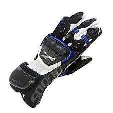 Spada-Elite-kangaroo-Leather-motorcycle-Gloves-Armoured-Sport-Race-Black-Blue