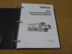 terex ta30 articulated dump truck service shop repair maintenance rh ebay com Terex Crane America terex ta 30 service manual