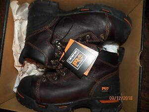 9f9b32c8193 Details about Timberland PRO 52562 Endurance 6-Inch Steel Toe Brown Work  Boots US Men's sz 6