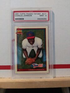 1991-Topps-Traded-Tiffany-Charles-Johnson-USA-PSA-Graded-9-61T-MINT-RC-Card
