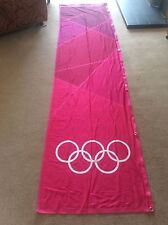 LONDON Olympics 2012 Flag Sign Banner Olympic Rings Memorabilia Pink 3 Metre