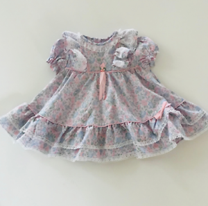Little Bitty sz 18 mo Vintage baby dress pink floral