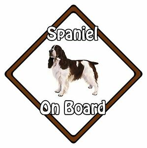 Non-Personalised-Dog-On-Board-Car-Safety-Sign-English-Springer-Spaniel-On-Board
