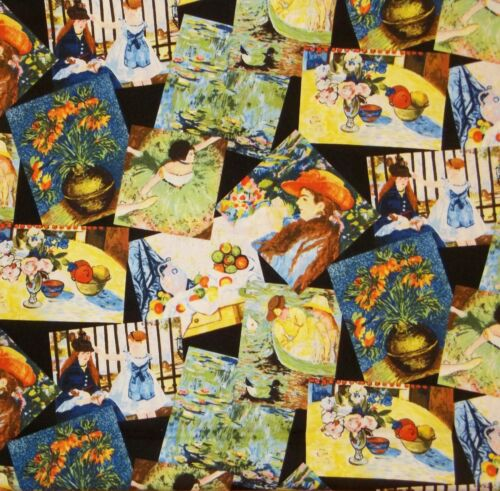 FQ exclusively Quilters at the museum IMPRESSIONNISTES ART COLLAGE TISSU DE COTON
