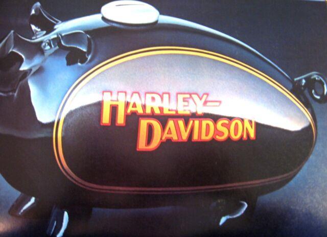 1983 Harley Davidson Brochure Original FLH FLHT Electra Glide FLT Tour Glide