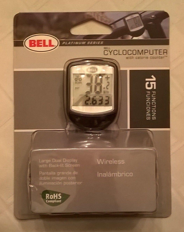 Bell Platinum Series Wireless Cyclocomputer 15 function bicycle bike SPEEDOMETER