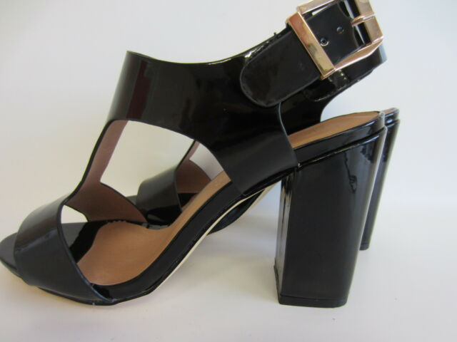 """Anne Michelle F10528 Ladies Tan Buckle Synthetic 2.5/"""" Block Heeled Sandals"""
