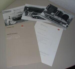 Fotos Pressetext Stand 09/1985! Gut Ausgebildete Pressemappe Audi 200 Avant Quattro Typ 44 C3