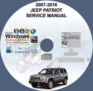 jeep patriot 2007 2010 2011 2012 2013 2014 2015 2016 factory rh ebay com 2014 jeep patriot service manual 2012 jeep patriot service manual
