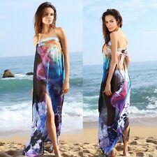 Chiffon Ladies Women Bathing Suit Bikini Cover Up Swimwear Summer Beach Dress US