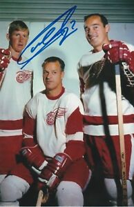 GARRY-UNGER-AUTHENTIC-AUTOGRAPH-DETROIT-RED-WINGS-PHOTO