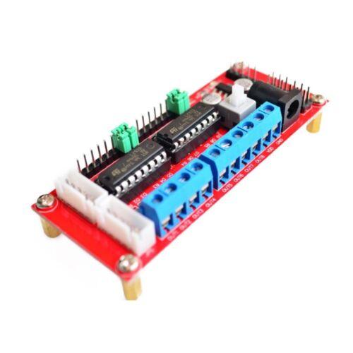 4 DC controlador de Motor módulo 4WD coche Robot L293D módulo frambuesa Pi Arduino