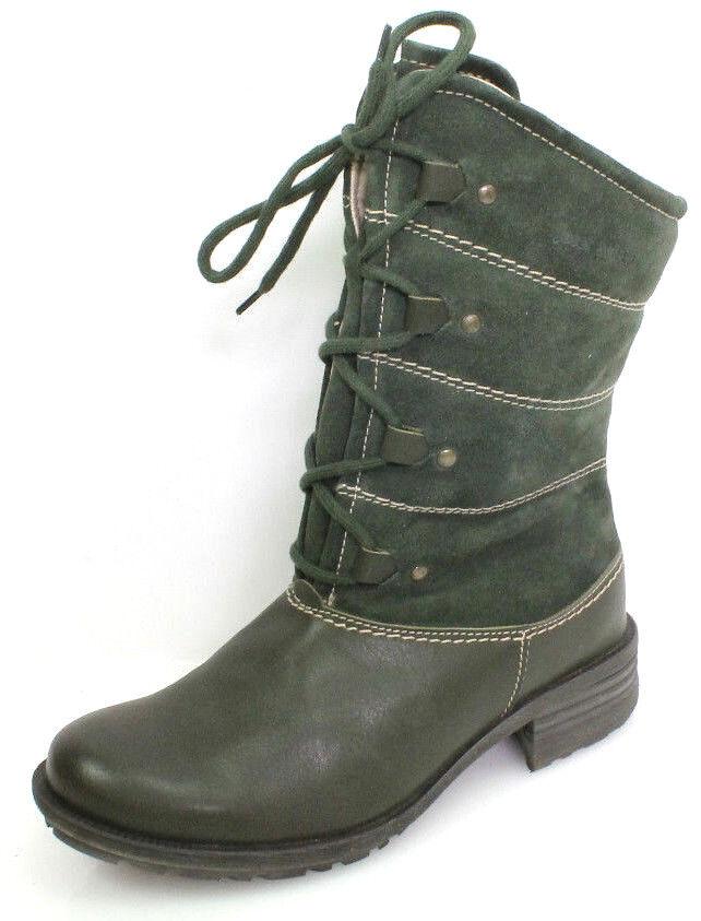 Josef Seibel New Palmira Gr.36 Damen Schuhe Kurzschaft Stiefel Stiefeletten Grün