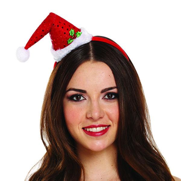 AC262 Mini Elf Hat on Headband Santa Helper Christmas Xmas Costume Accessory