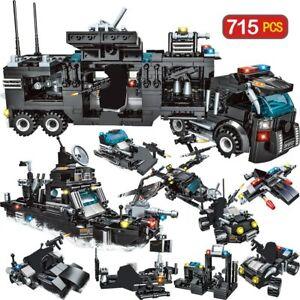 Camion-Police-Bloc-Construction-715-Pieces-Vehicule-Swat-Jouet-Enfant-Cadeau-New