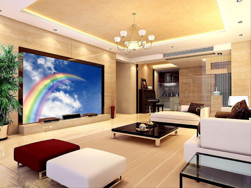 3D Regenbogen Himmel 74 Tapete Wandgemälde Tapete Tapeten Bild Familie DE Summer