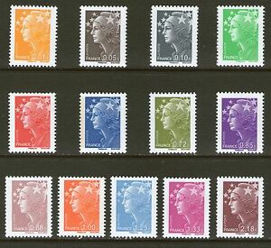 SERIE-TIMBRES-4226-4238-NEUF-XX-LUXE-MARIANNE-DE-BEAUJARD-SERIE-COMPLETE