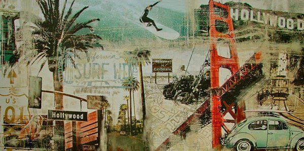 Tyler Burke   CALIFORNIE éTATS-UNIS D'Amérique tableau prêt 50x100 mural