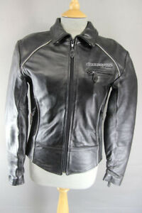 DANNISPORT-BLACK-COWHIDE-LEATHER-BIKER-JACKET-WITH-REMOVABLE-CE-ARMOUR-SIZE-8