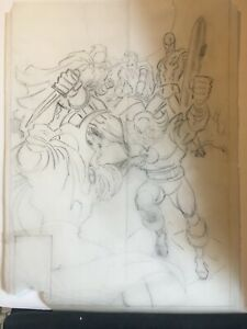 RARE! Original JOHN ROMITA SR Art DR STRANGE #32 Cover PreLim 1991 SILVER SURFER