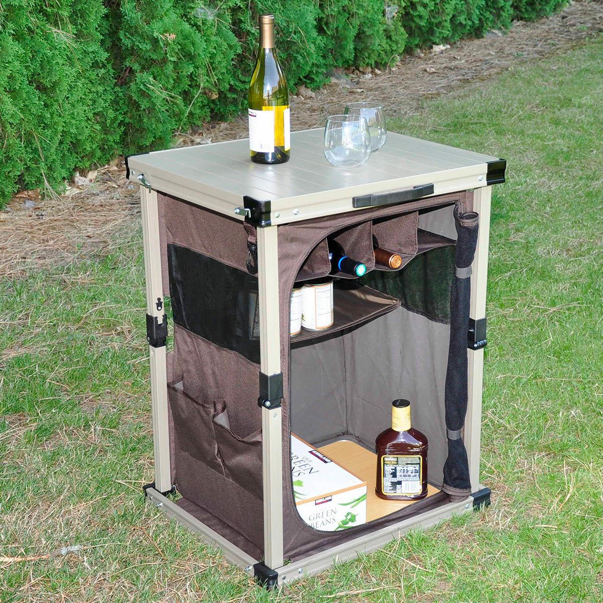 Timber Ridge 25  (64cm)Portable Folding Camp Pantry Camping Hiking Storage Table