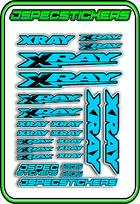XRAY RC A5 STICKER SHEET NT1 T4 XB9 RX8 ELECTRIC NITRO DECALS R//C PINK BLUE B