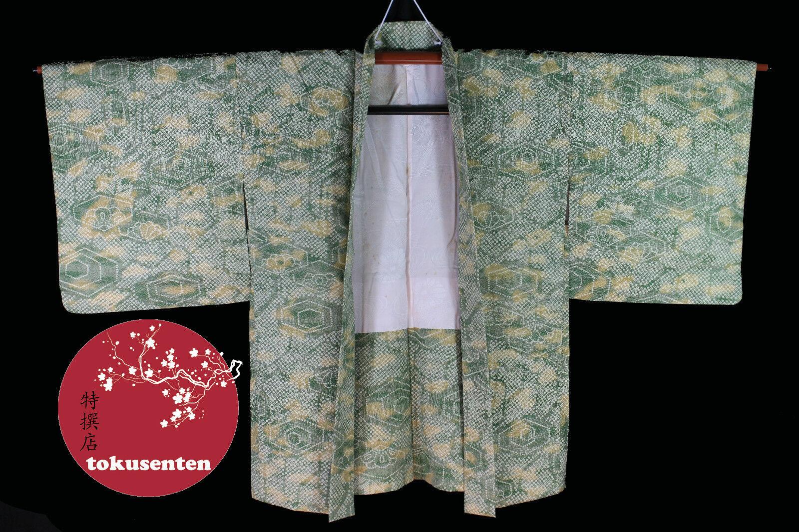 JAPANESE KIMONO AUTHENTIC REAL SEDA SETA SILK MADE IN JAPAN RARE VINTAGE