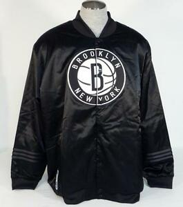 6b3a2c1f11d Adidas NBA Brooklyn Nets Black Snap Front Insulated Jacket Men's NWT ...