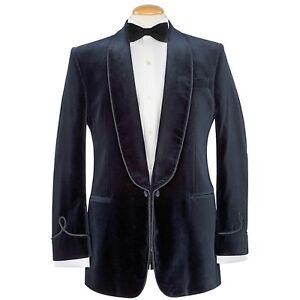 Designer Smoking Jacket   Mens Designer Smoking Jacket Dinner Party Host Blazer Black Velvet