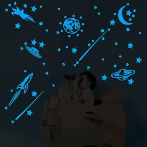 Glow-In-The-Dark-Star-Wall-Stickers-Round-Stars-Moon-Dot-Luminous-Kid-Room-Decor