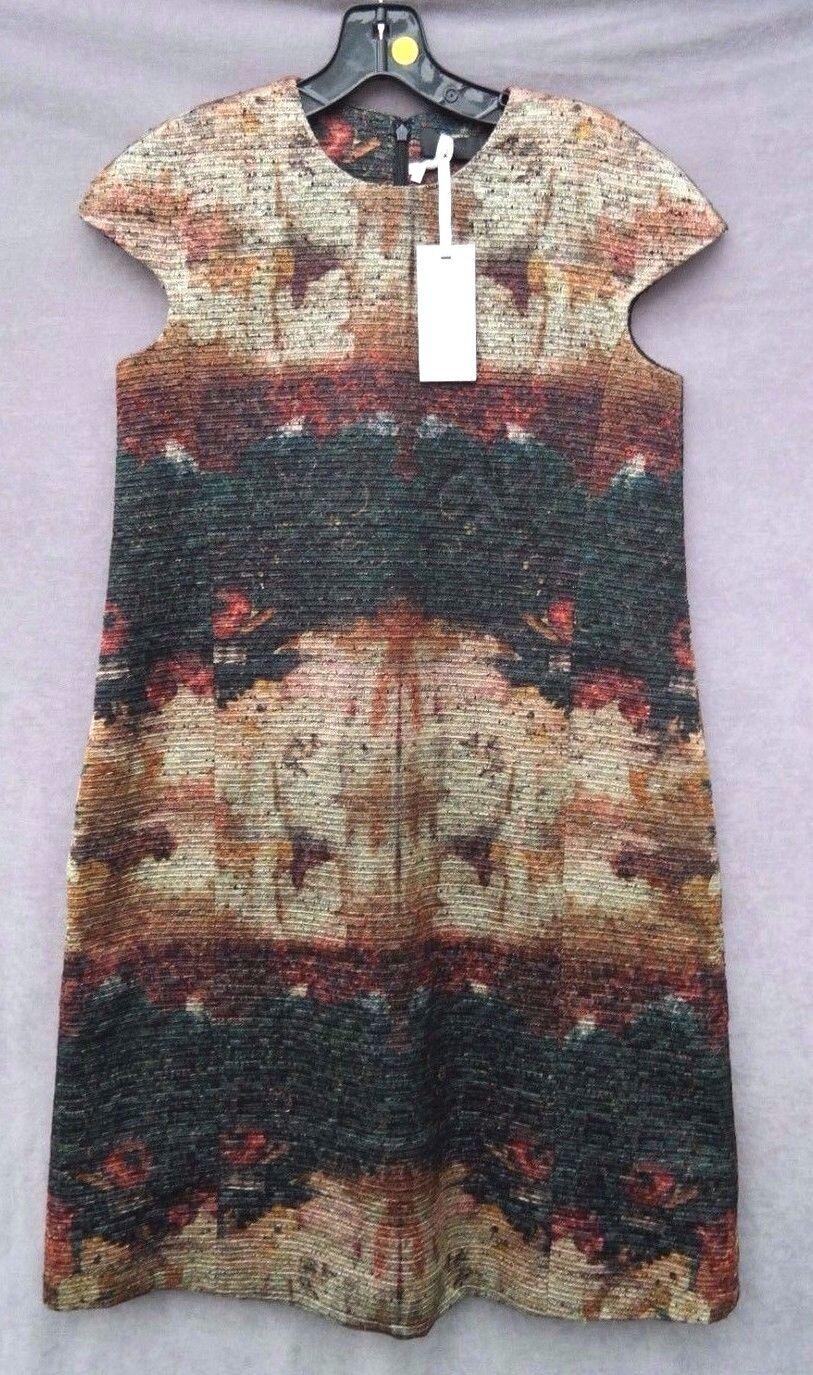 NEW Co Woherren LUXURY Brand Dark Grün ALINE DRESS Short Sleeve Blouse - Small