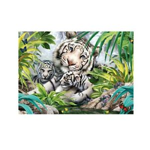 White-Tigers-Family-Animals-Jungle-Paint-By-Numbers-Kit-Canvas-Art-Home-Decor