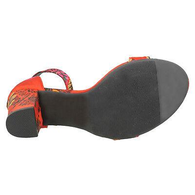 Damen schwarz / Rot Multi Stich mit Absatz Anne Michelle Hochzeit / Party Schuhe