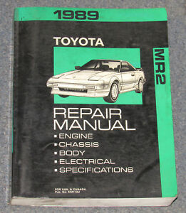 1989 toyota mr2 service repair manual ebay rh ebay com 1996 Toyota MR2 1991 Toyota MR2