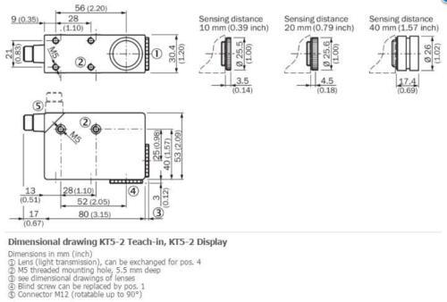 Négative positive negative New SICK KT5W-2N1116 Contraste capteurs