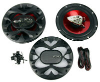 2) Boss Ch6500 6.5 2-way 200w Slim Mount Car Coaxial Speakers Audio Stereo on sale